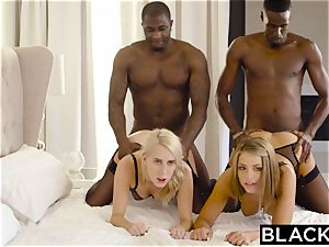 BLACKED Adriana Chechik and Cadence Lux very first bi-racial 4 way