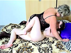 OldNanny elder mature ladies slurping nubile woman
