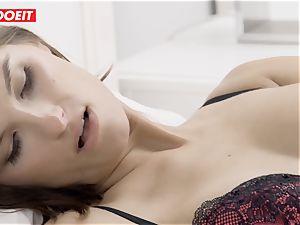 LETSDOEIT - hot wife rails stiff husbands wood To ejaculation