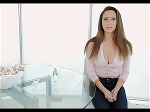 Ashley Adams gasps as her booty is poked