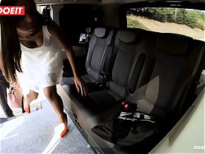 LETSDOEIT - naughty teen ravages and sucks cab Driver