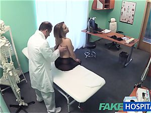 FakeHospital humungous bumpers stunner has a back problem