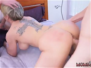 mother a immense backside and chum compeer ass fucking She suck off s both of them off at the same time before