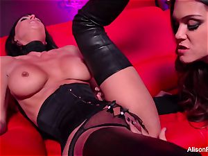 crimson room and sizzling strap-on act