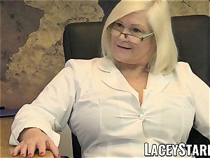 LACEYSTARR - GILF slurps Pascal white jizz after intercourse