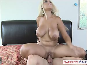 huge-boobed gf Bridgette B. take wood