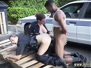 gigantic brunette mummy and porked by police baton first-ever time I will catch any perp with a