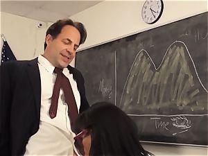 horny college girl Luna star seduces her schoolteacher