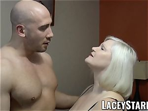 LACEYSTARR - GILF entices ginormous dicked hunk into fuckin'