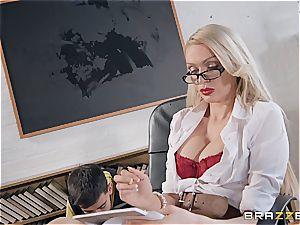 mischievous Jordi torn up by milf schoolteacher