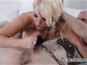 big-boobed blondie Alura Jenson loves a fellow in uniform