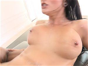 Creaming inside splendid brown-haired Katrina Jade