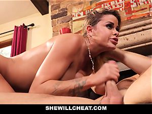 hotwife spouse sees Wifes snatch Get destroyed