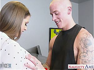 brown haired goddess Brooklyn chase pounded superb by her dude