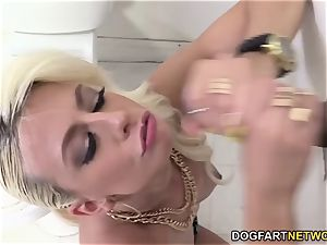 Jessie Volt romps A Random black hard-on