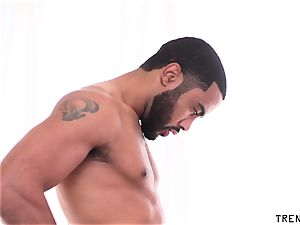 busty milf gargles black dick