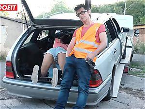 LETSDOEIT - nubile boinks older guy For Free Car Repair