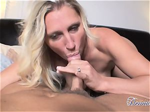 Devon Lee is liking her man's whip tucked in her delicious throat