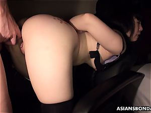 Pouring molten candle and lubricant on her bum as shes banged