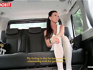 cab driver takes advantage of sad babe and penetrates her