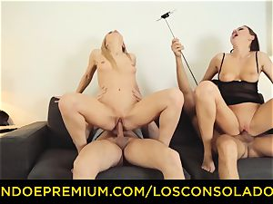 LOS CONSOLADORES - Hungarian ash-blonde gets nailed pov