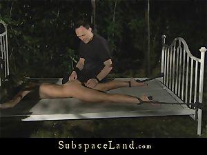 Doris Ivy restrain bondage fucked in the woods