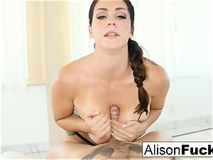 Alison Tyler gives a handsome inhale job with bap nailing