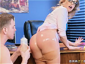 Britney Amber takes knob at work