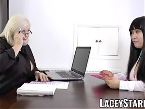 LACEYSTARR - business GILF tongue probes youthfull puss