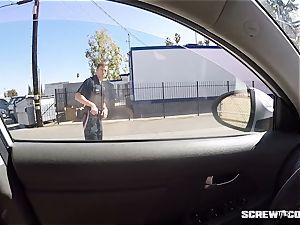 CAUGHT! black girl gets unloaded inhaling off a cop