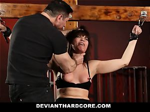 DeviantHardcore-Hot cougar kneaded and manacled To Cross