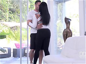 uber-cute buxomy mummy with ideal bodacious figure takes stranger's humungous salami in her cock-squeezing coochie