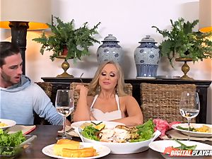 Julia Ann and Lily Rader get insatiable at the dinner table