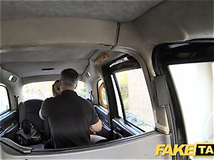 faux taxi good ravage anal hookup and big facial cumshot for blondie