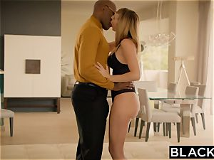 BLACKED Brett Rossi frightened From Her Ex immense black chief Protects Her
