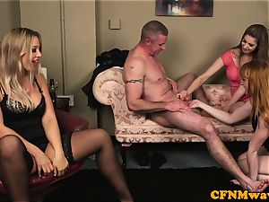 euro CFNM cougar shares her sub hubby