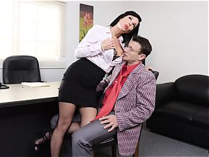 pumping out dark-haired Veronica Avluv vagina tucked and fisted