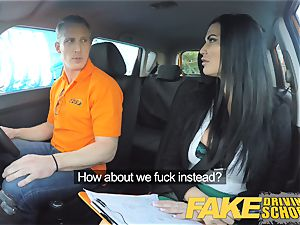 fake Driving college Learner porks his nymph examiner