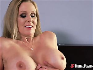 lovemaking with buxom housewife Julia Ann and her stepdaughter