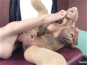 Leya gives Nikita a massage that leads to more