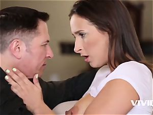 Ashley gets caught all raw and insatiable by her step-dad