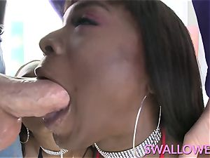 drank Ana Foxxx and Chanell Heart blowing huge pink cigar