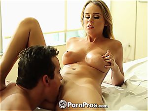 Alexis Adams uses her curves and beaver