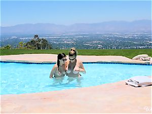 Shyla Jennings and Ryan Ryans after pool vag soiree