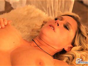 Devon Lee gets her labia stabbed by a monster weenie