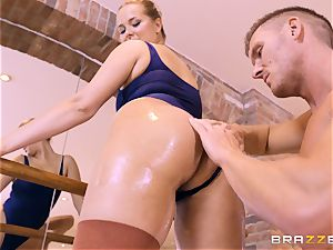 NIkky wish oiled up and hammered in the gym