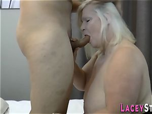 huge-chested brit granny humped