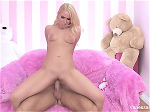 orgy with uber-cute Vanessa cage and a enormous jizz-shotgun