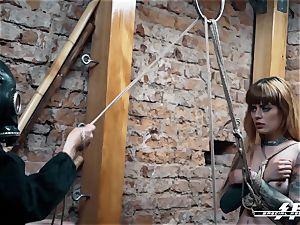 sensational feet strength - Lesdom tantalizes German soles slaves