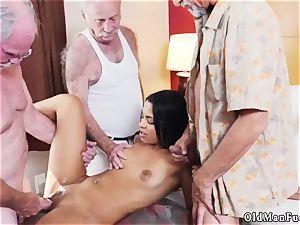 senior man gobbles women butt Staycation with a brazilian sweetie